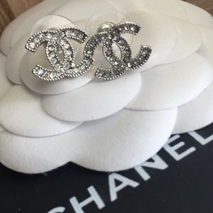 Chanel Authentic Earrings with box and pouch